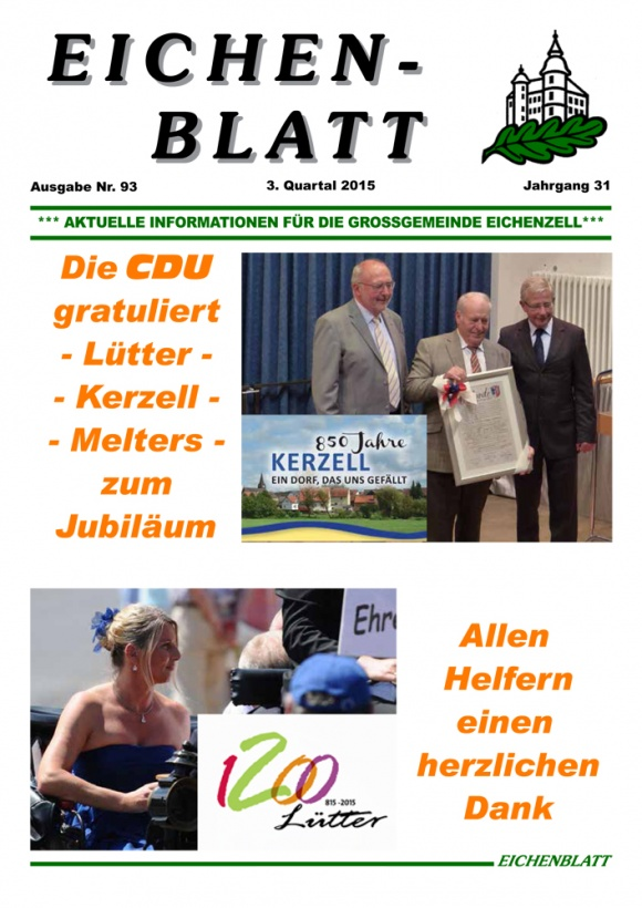 Eichenblatt 3. Quartal 2015