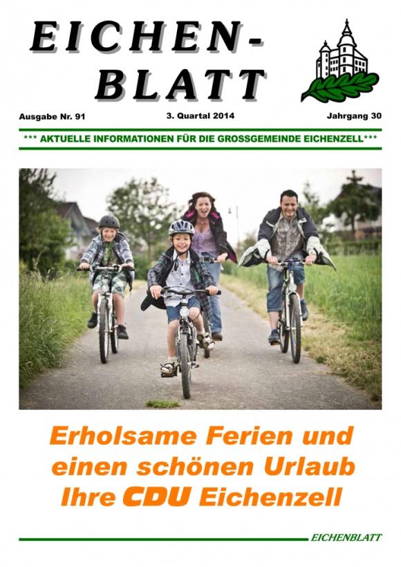 Eichenblatt 91. Ausgabe 3. Quartal 2014