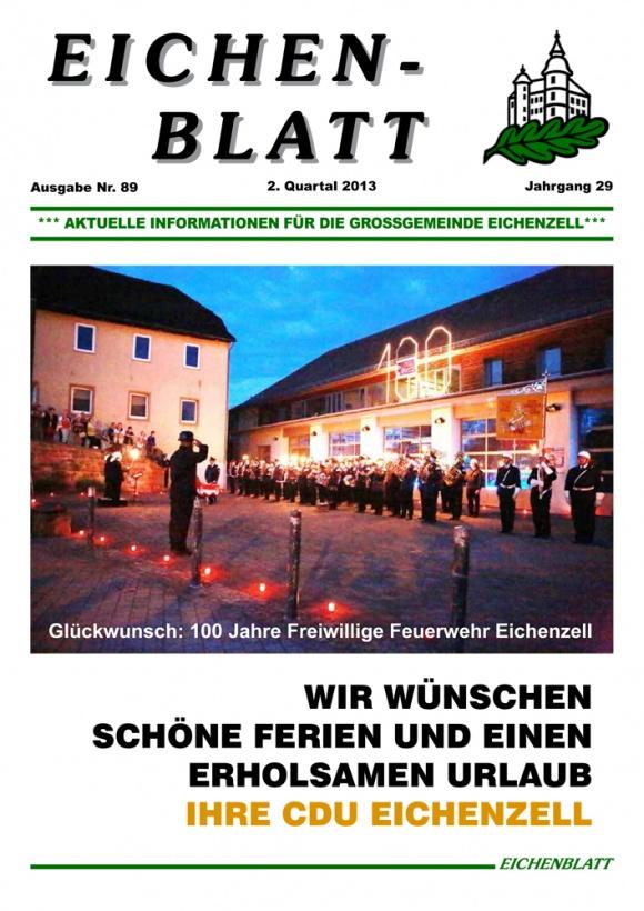 Eichenblatt 89. Ausgabe 2. Quartal 2013