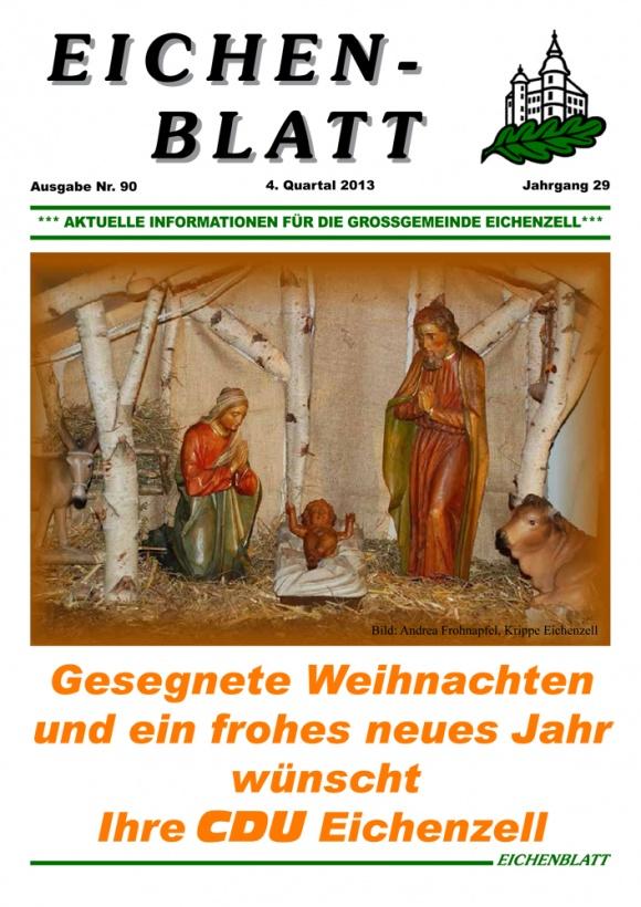 Eichenblatt 90. Ausgabe 4. Quartal 2013