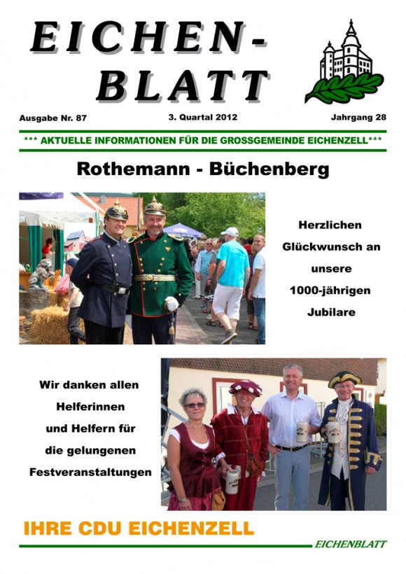 Eichenblatt 87. Ausgabe 3. Quartal 2012